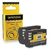 2x Batería PS-BLM1 para Olympus C-5060 Wide Zoom | C-7070 Wide Zoom | C-8080 Wide Zoom | E-1 | E-3 | E-30 | E-300 | E-330 | E-500 | E-510 | E-520 | E1 | E3 | E30 | E300 | E330 | E500 | E510 | E520