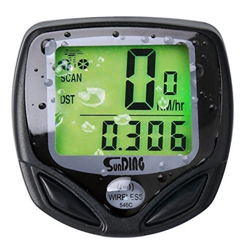 Aokay Multi Function Bike Computer Wireless Waterproof Digital LCD Back Light Bicycle Cycling Odometer Speedometer Distance Tracking Unit with 16 Functions  available at amazon for Rs.1823