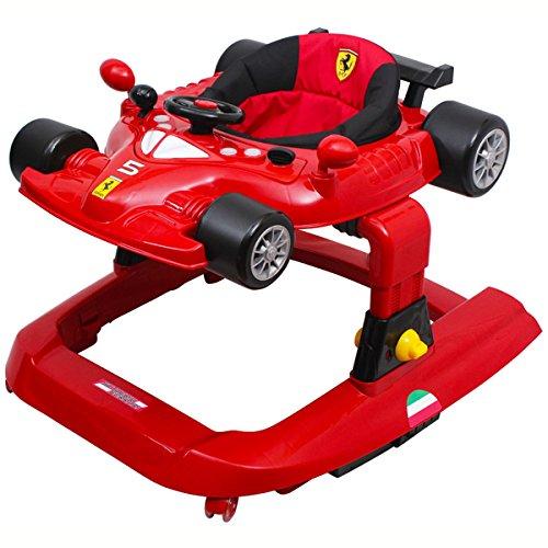 Ferrari f1 Gehfrei Lauflernhilfe Laufhilfe Gehhilfe Spielcenter SILIKON-Rollen **TREPPEN FALLSCHUTZ** Stufenlose Sitzhöhenverstellung (Ferrari f1 5in1)