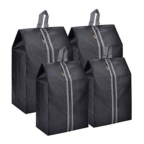 Wirabo 4 pack borsa scarpe da viaggio multiuso antipolvere impermeabile sacchetti portascarpe per uomo e donna
