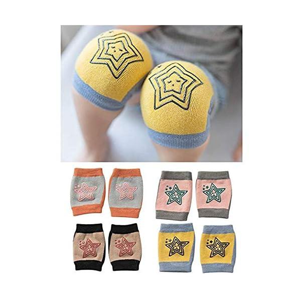 Rodilleras antideslizantes de arrastre unisex para bebés, rodilleras para niños pequeños Protectores contra el arrastre… 1