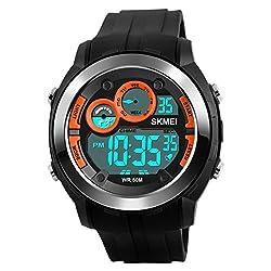 Skmei Special Digital Display Sports watch 3ATM waterproof Stainless Steel Back -1234 Org