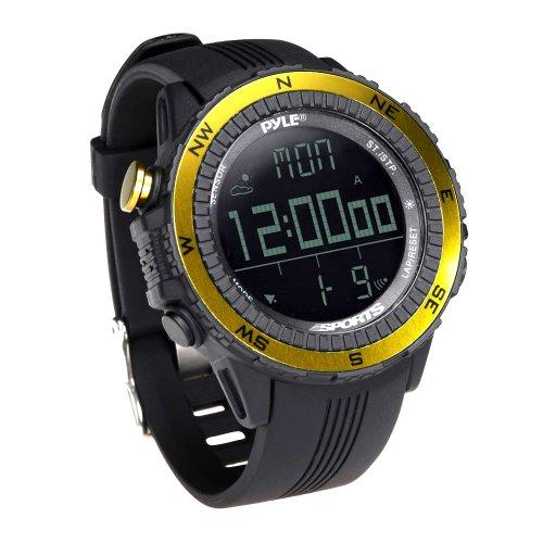 Pyle Unisex Erwachsene Digitale Multifunktions Sport-Uhr mit Barometer Chronograph Kompass Wettervorhersage, Gelb