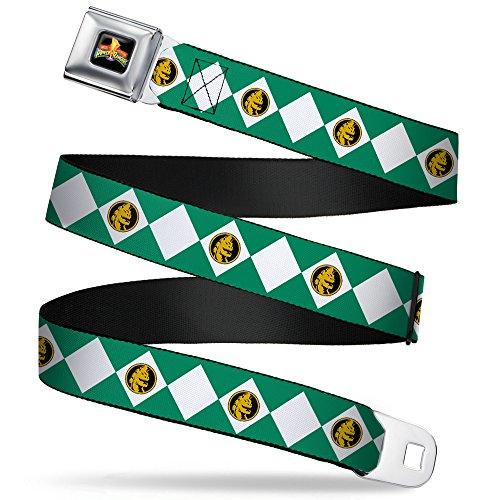 BD POWER RANGERS Sicherheitsgurt Gürtel–Power Ranger Diamond Green ()