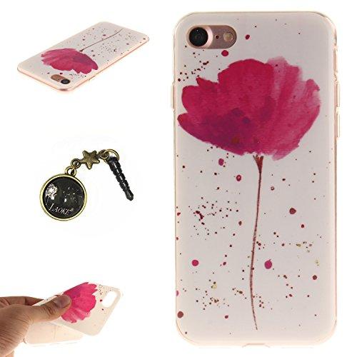 TPU Silikon Schutzhülle Handyhülle Painted pc case cover hülle Handy-Fall-Haut Shell Abdeckungen für Smartphone Apple iPhone 7 (4.7 Zoll) +Staubstecker (5AC) 6
