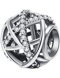 Charms et perles femme argent 925 Cristal (Serpentine Ouverte) CHANGEABLE