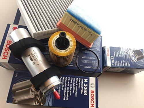 Preisvergleich Produktbild Bosch Ölfilter Luftfilter Aktivkohlefilter Kraftstofffilter A4 B8 A5 8T Q5 8R 2.0 TDI - Motorcode CAHB ,  CAGA ,  CAGB,  CAGC