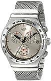 Swatch Herren-Armbanduhr XL New Irony Chrono Silverish Chronograph Quarz Edelstahl YVS405G