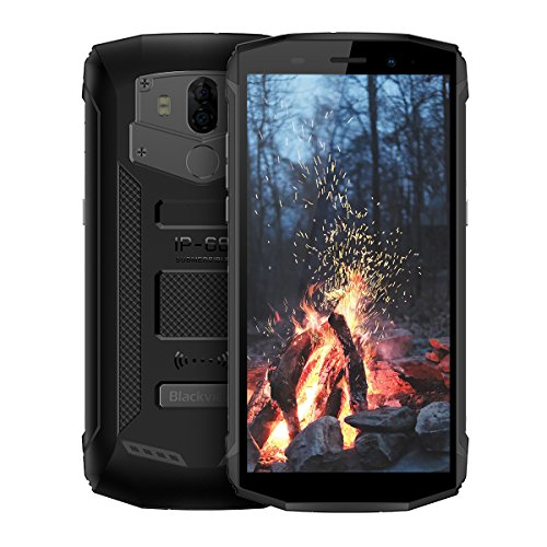"Blackview BV5800 Pro - Smartphone de 5.5""HD, 2GB RAM + 16GB ROM, Bateria de 5580mAh, Camara de 13MP, Android 8.1 Movil Antigolpes, Proteccion IP68 Outdoor Smartphone, NFC, LED, GPS, GLONASS"