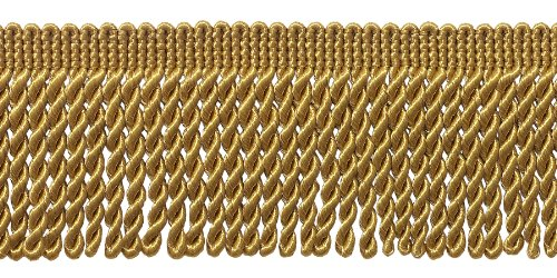 DecoPro 6,35cm Fransenborte, Stil # EF25Farbe: Golden- C4. Verkauft per Yard (1Yard = 91cm)