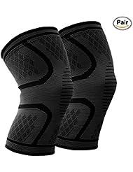 Kniebandage (Paar) Beskey Anti-Slip Kniestütze Super Elastisch Atmungsaktiv Knee Sleeves Hilfe Joint Pain Relief für Arthritis Leidende und Erholung von Verletzungen Fit für den Sport