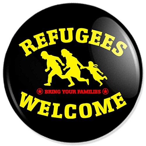 buttons-und-pins Refugees Welcome Schlüsselanhänger mit 25 mm Durchmesser