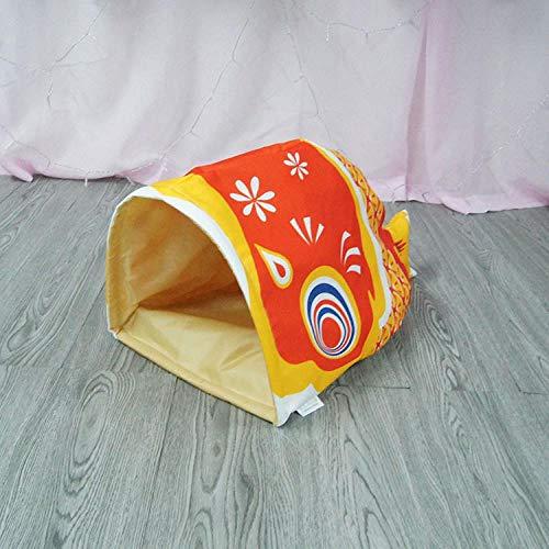 SHIYID Cuscino per Cuccia per Cuccioli di Pesce Creativo per Cuccia per Animali Domestici Rosso 58 × 32 × 25 cm