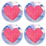 MSD 34892805 Sous-verres ronds antidérapants en caoutchouc naturel en forme de cœur...