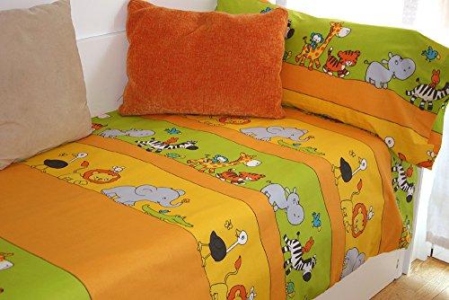Funda nórdica estampada Animales ZOO (Para cama de 90x190/200 (Nórdico de 150))