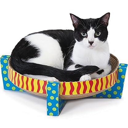 Petstages Scratch, Snuggle & Rest Corrugated Cat Scratcher With Catnip 2