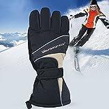 Pueri wiederaufladbare beheizte Handschuhe im Freien wasserdichte batteriebetriebene Handwärmer Handschuhe für Wandern Skifahren Radfahren Snowboarden (B)