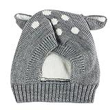 Baby Mütze Clode® Herbst und Winter Baby Hut Mädchen Jungen Kappen Kind Hut Kleinkind Kinderhut (Grau)