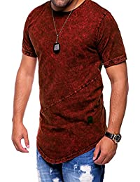 MT Styles Oversize T-Shirt style washed manches courtes C-9023
