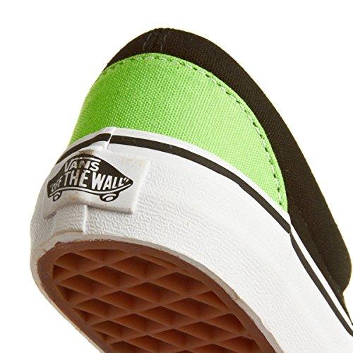 Vans - Kress, Sneaker Unisex – Bambini (Black Green Flash)