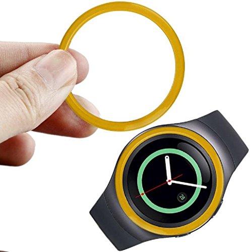 para-samsung-gear-s2-sm-r720-sannysis-reloj-marco-de-metal-watch-metal-frame-amarillo