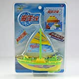 Electric Boat Yacht Toy with Sail AA Battery Kids Summer Shower Accessory