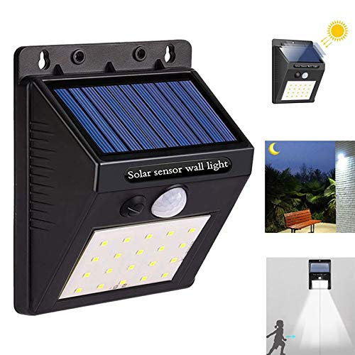 AMTSKR 20led Solar Powered Wall Light Pir Motion Sensor Solar Light Wasserdicht Outdoor Lighting Led Garden Light Front Porch Lampen - Porch Front Light