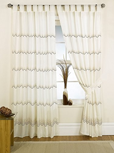 Curtains Ideas chocolate brown tab top curtains : fashion style tie blinds window curtain with bead kitchen curtain ...