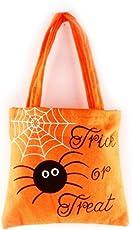 SEVENHOPE Halloween Süßigkeitstasche Geschenktüte Kinder Halloween Party Einkaufstasche Party Decor Geschenk Paket Taschen (Orange)