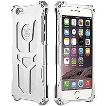Para iPhone 6Plus casos, yijee a prueba de golpes cubierta Teléfono Móvil Thor Ironman Armor diseño teléfono celular bolsa de aluminio 5,5pulgadas de metal con Retail Box, plata, 19*12*3cm