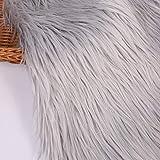 Tela de pelo sintético de pelo largo de felpa suave de lujo, material de tela de costura, felpa, Gary, 20 *...