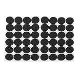 4 mm redondas color negro Almohadillas de goma adhesivas para muebles Sourcingmap