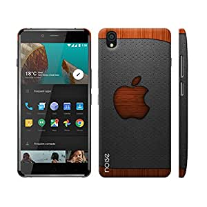Noise OnePlus X Case/Back Cover + Free Tempered Glass, Noise Designer Premium PolyCarbonate Case Back Cover for OnePlus X [Slim fit, scratch & impact resistant MATTE finish] + Free Premium Tempered Glass (HD) - Screenguard (Apple in Wood)