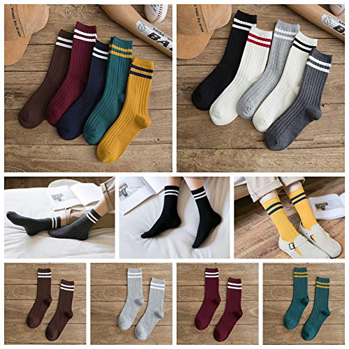 Women Cotton Socks,Wawer Fashion Winter Warm Knit Knitted Crochet Socks,Comfortable Stripe Leg Warmers Girls Socks,Girls Back to School Socks,Multibuy Big Sale
