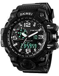 Skmeinovaâ Analogue-Digital Black Dial Men's Watch - SN-6