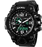 SkmeiNova Quartz Movement Analogue-Digital Black Dial Men's Watch - Sn-6