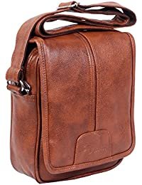 Easies Tan Leather Men's Sling Bag