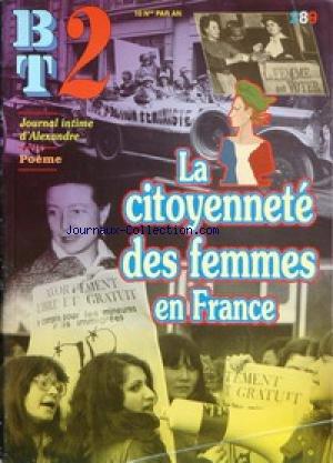 BT 2 - BIBLIOTHEQUE DU TRAVAIL [No 289] du 01/09/1996 - JOURNAL INTIME D'ALEXANDRE - POEME - LA CITOYENNETE DES FEMMES EN FRANCE.