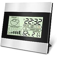[Sponsorizzato]Termometro Igrometro Digitale Contatore Termometro Temperatura di umidità, Temperatura e umidità monitorare con sveglia, min / max records, la tendenza di variazione della temperatura, ℃ / ℉ interruttore meteo
