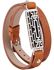 Armbanduhr Armband und, elektrische Zubehör Activity Tracker Zubehör verstellbar Ersatz Leder Band Armband Strap mit Clip Halterung für Fitbit Flex 2