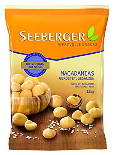 Preisvergleich Produktbild Seeberger Macadamia geröstet,  gesalzen,  13er Pack (13 x 125 g Beutel)