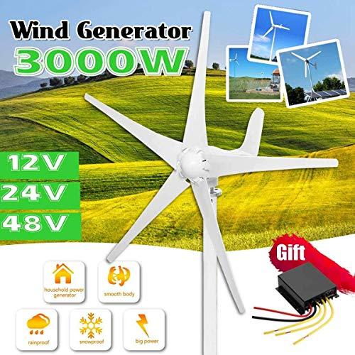 XDDWD Éolienne, 3000W 12V / 24V / 48V Génératrice...