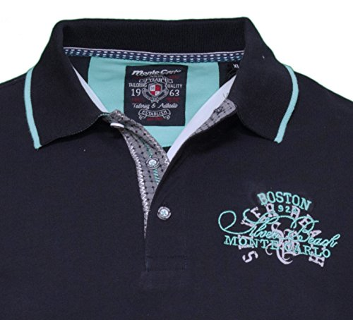Monte Carlo Herren Poloshirt Piqué - dunkelblau Blau