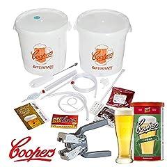 Idea Regalo - KIT Fermentazione Birra Lusso Coopers con un Malto Lager e la Tappatrice