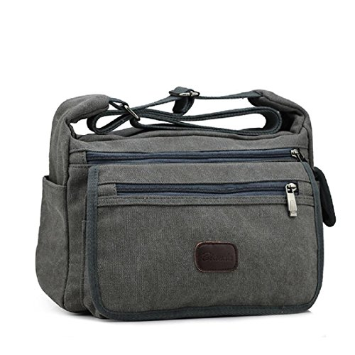 Draussen Bewegung Messenger Bag Segeltuch Sport Rucksack Waschbar Reisetasche Grey