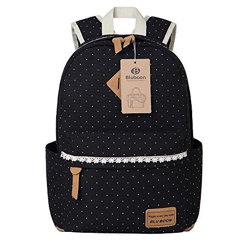Schulrucksack Mädchen Canvas Rucksack Damen Schul Schulranzen/Schultasche 3 in 1 - 3