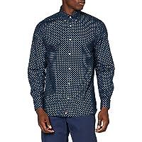 Tommy Hilfiger Heren Floral Geo Print Shirt Shirt Shirt Shirt