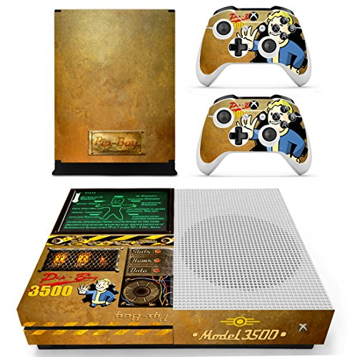 Preisvergleich Produktbild XBox One Slim + 2 Controller Aufkleber Schutzfolien Set - Fallout (4) / One S
