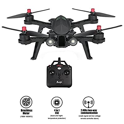 MJX Bugs 6 Racing Drone with High Speed Motor Brushless Two-way 2.4GHz 4 Chanel 6 Axis Gyro RC Quadcopter Drone, Compatible with 3D VR Headset