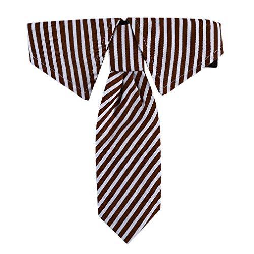 Vektenxi Einstellbare Haustiere Hund Katze Fliege Haustier Kostüm Krawatte Kragen für kleine Hunde Puppy Grooming Zubehör, braune Streifen, S langlebig und - Braune Katze Kostüm
